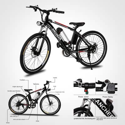2.	Ancheer Power Plus Electric Mountain Bike
