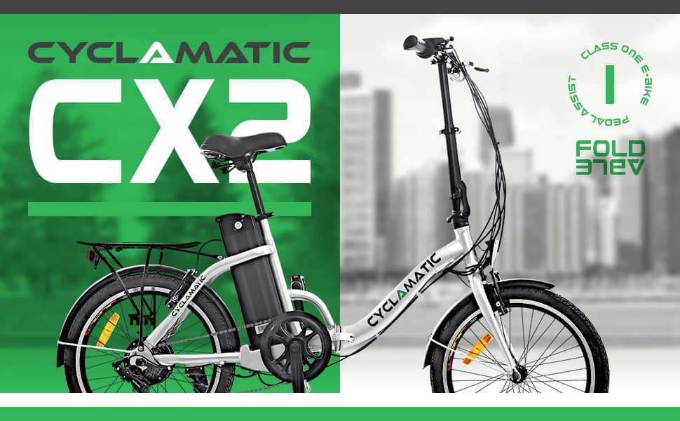 Cyclamatic Cx2 Electric Foldaway Bicycle With Lithium Ion