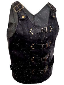 Steampunk vest leather