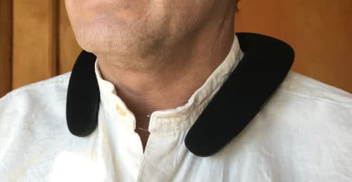 JBL Soundgear on the neck