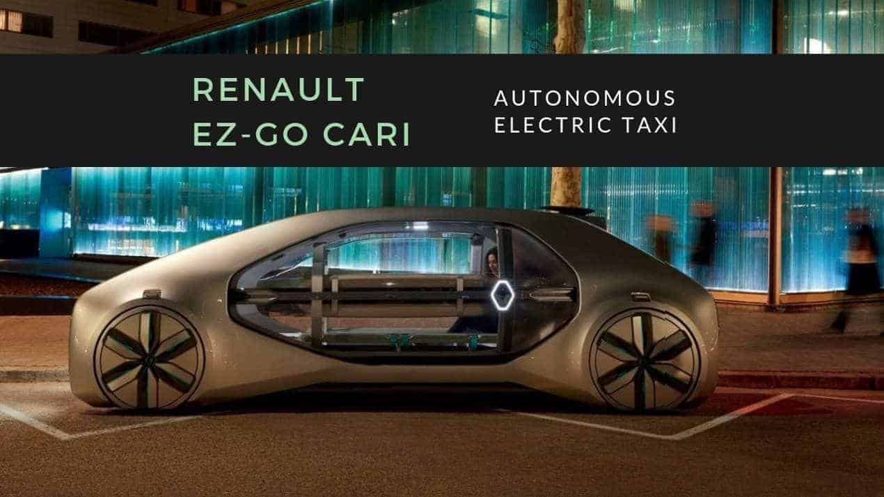 Renault EZ-GO Car Autonomous Electric Taxi