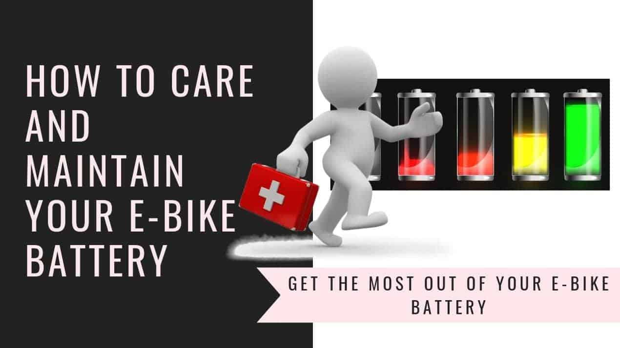 How to care and maintain your E-bike battery