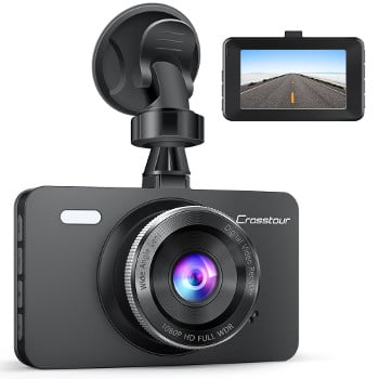 Dash Cam, Crosstour 1080P Car DVR Dashboard Camera Full HD