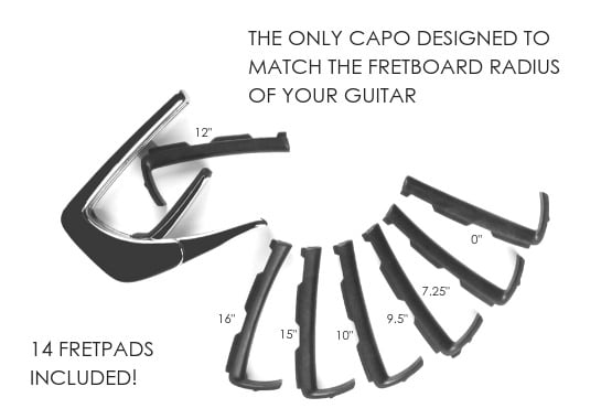 Thalia capo 14 interchangeable fret pads