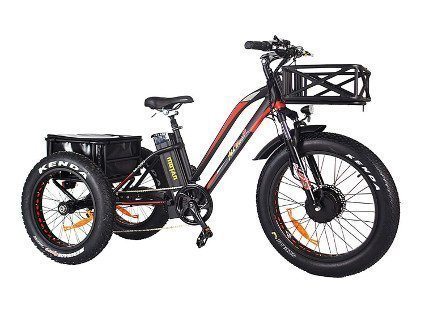 Addmotor Motan Electric Tricycle 24 Inch Fat Tire Electric Trike 3 Wheel Ebikes