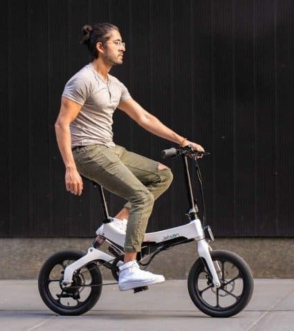 Jetson Metro Electric Folding Bike with Twist Throttle, Pedal Assist, and LED Headlight - Black