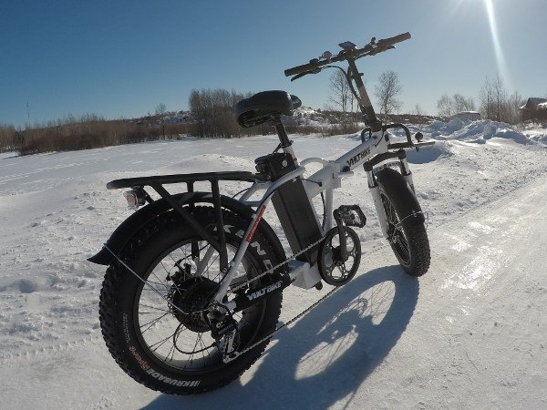 Voltbike Mariner 2019 in the snow