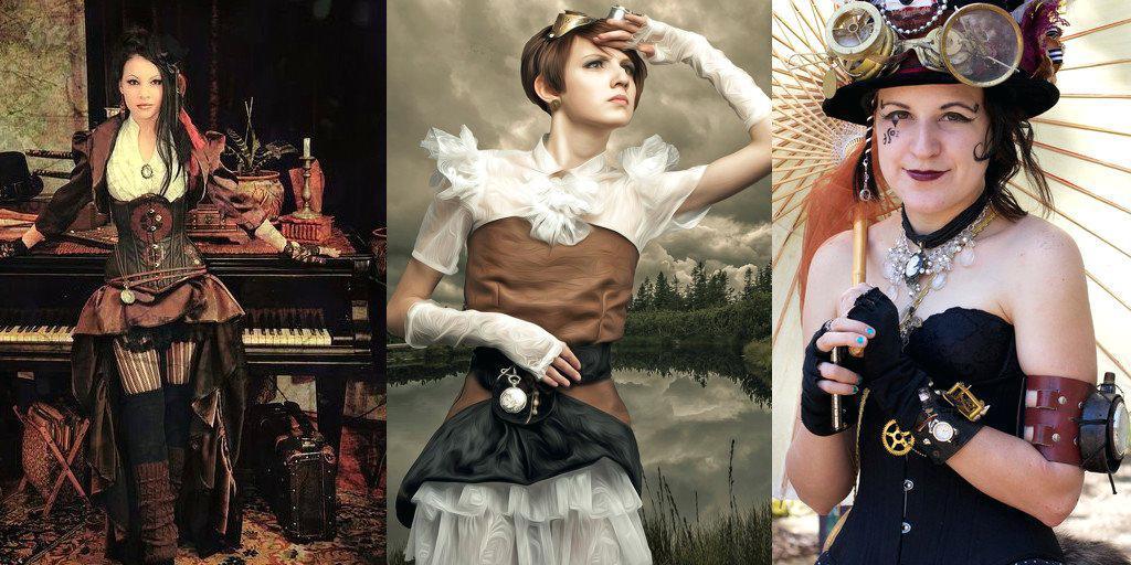 steampunk-woman looks