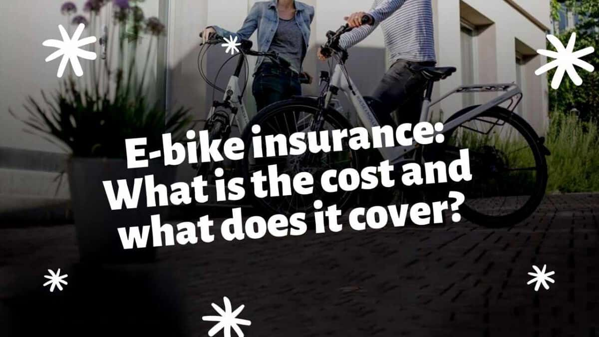 E-bike insurance: What is the cost and what does it cover?