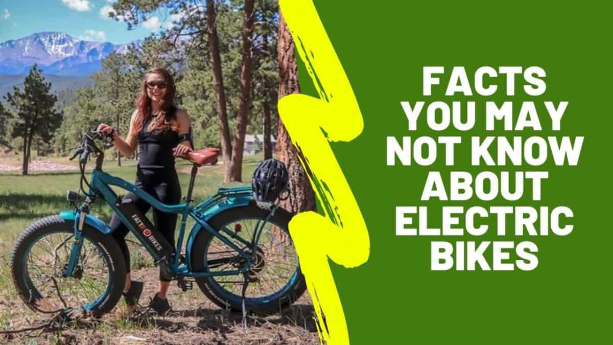Facts You May Not Know About Electric Bikes